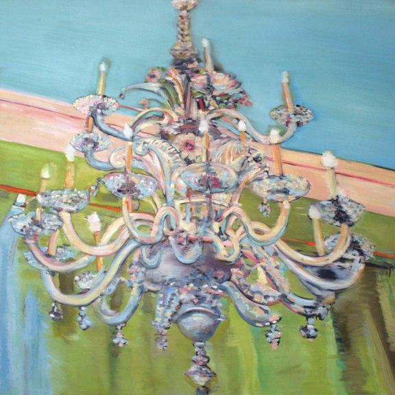 De Villa , oil on canvas,  60x60 inches, 2005. Private collection, CA.