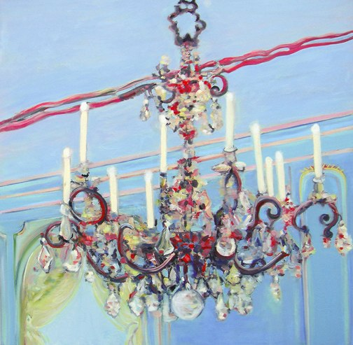 Potsdam Platz , oil on canvas , 30x30 inches , 2007. Courtesy of Milo Gallery, Los Angeles, CA.