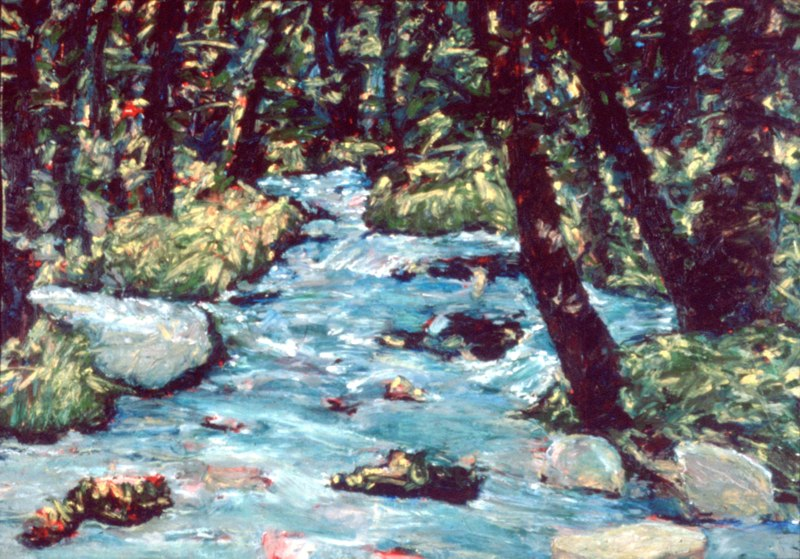 "Spearfish Canyon,SD , oil on paper, 30x40"", 2015. Private collection."