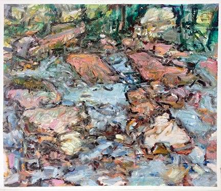 "Bear Creek , oil on paper, 22x28"", 2015."