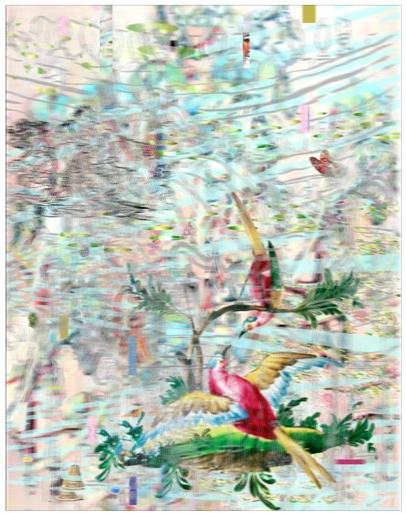 """Interior Banquet , 3D Lenticular Print, 28x20"""", ."""