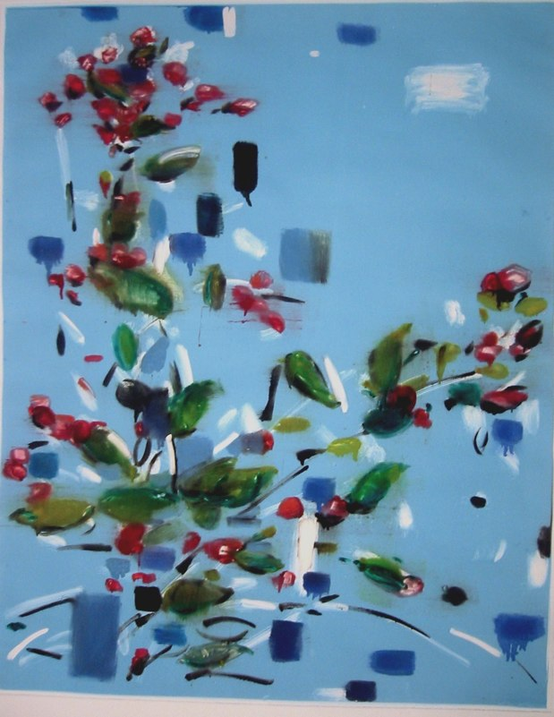 Fall Bloom I , monoprint,  23.75x30 inches,  2004. Courtesy Mary McElwain, St. Louis, MO.
