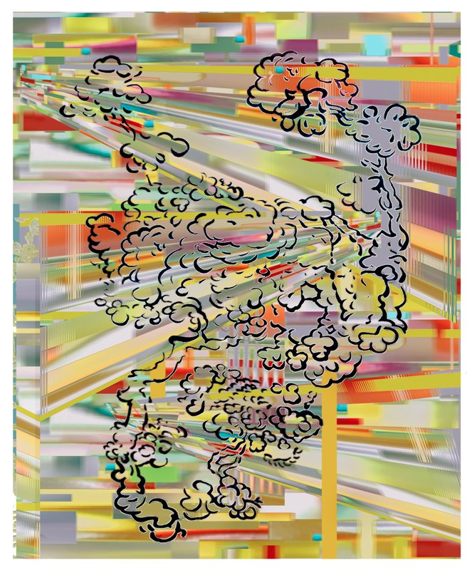 Puff , pigment print , 54x44 inches, 2010-11.