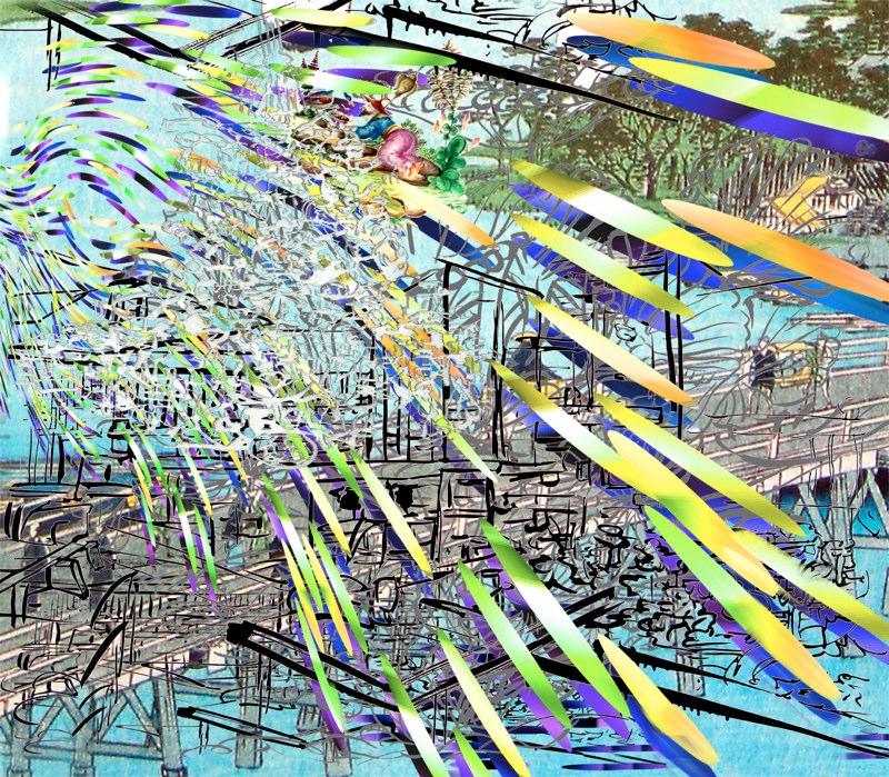 Tsunami High , pigment print on rag , 42x47 inches , 2009.