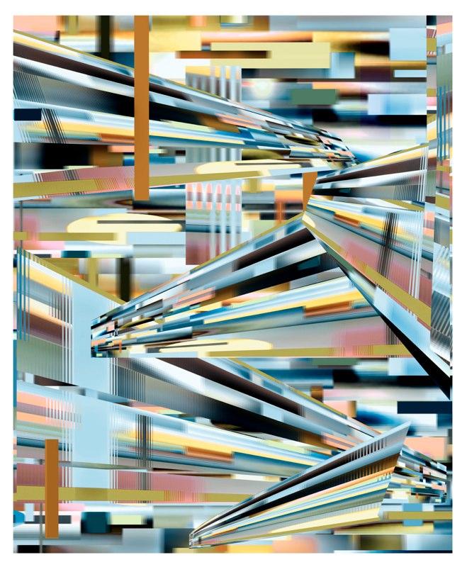 Transit Slate , pigment print , 54x44 inches,  2010-11.