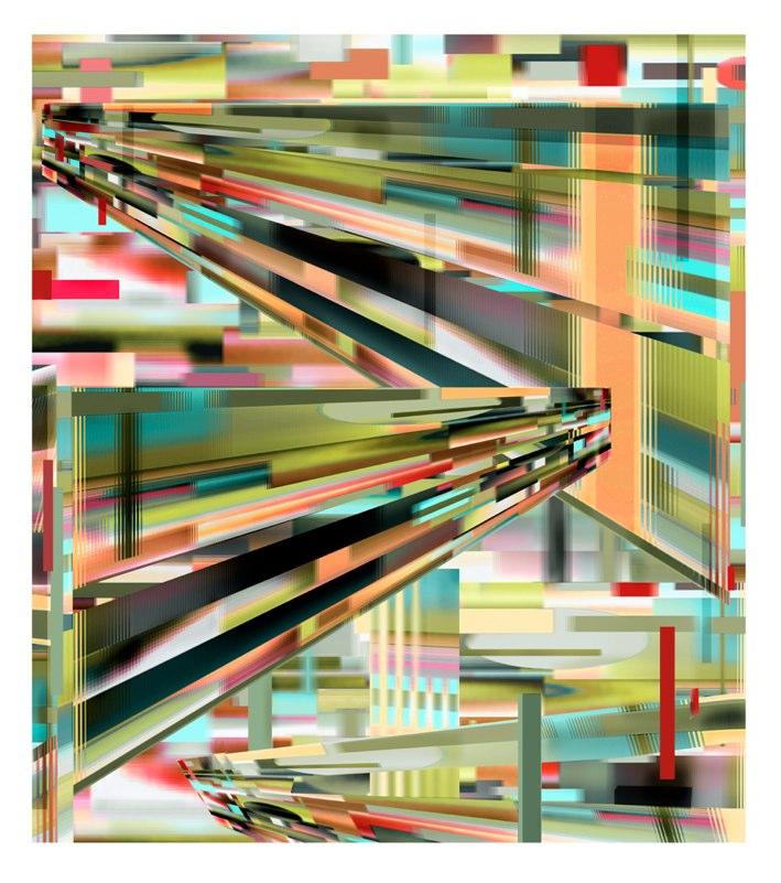 Transit Green pigment print , 50x44 inches, 2010-11.