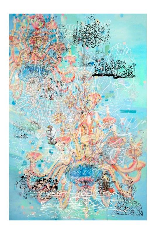 Orbit , pigment print on Somerset, Edition 5/15, , 60x40 inches.