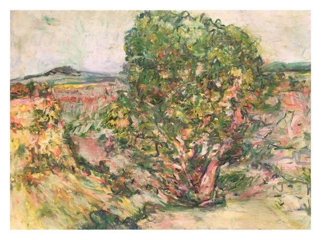 """Juniper Ridge , oil on paper, 29x41"""", 2016."""