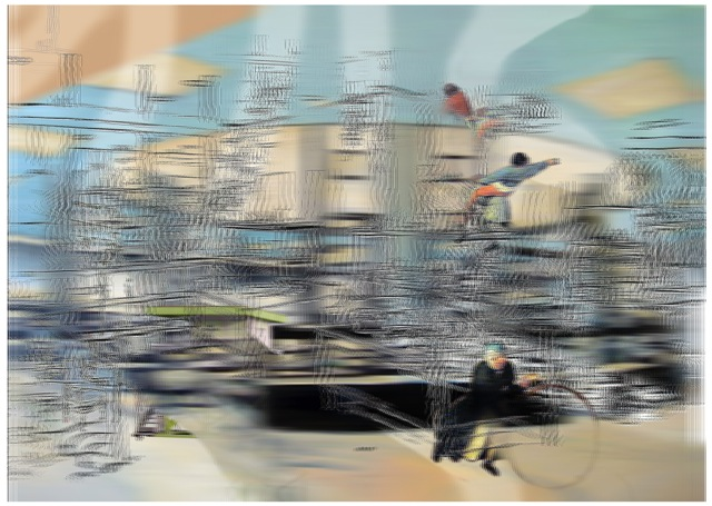 """California Retail with Game s, 3D lenticular print, 12x8""""  , 2014-16."""