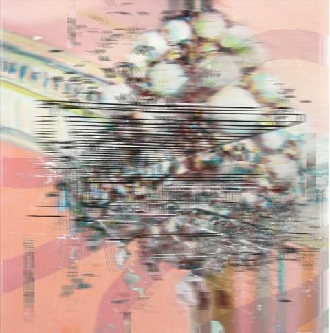 "Koenig West Wing , 3D lenticular print, 10x10"", 2014-16."