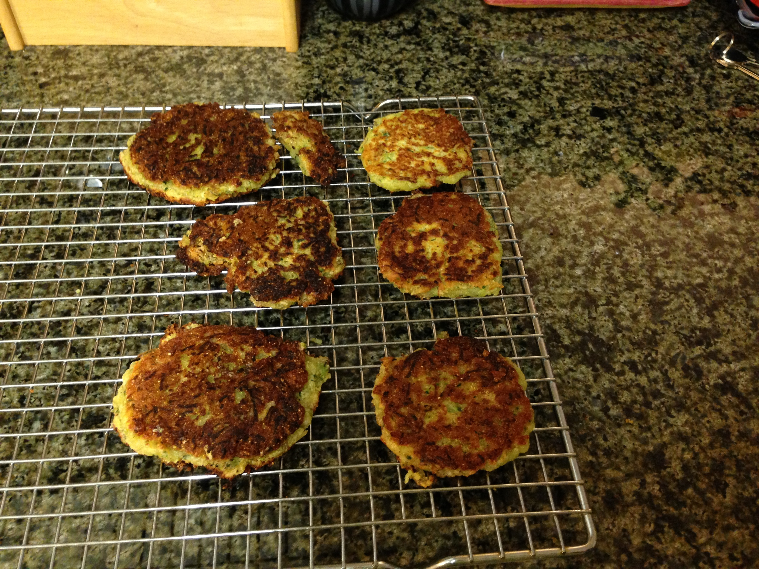 Eventually I was able to manage several, non-burned, pancakes. It didn't make a lot but it was a yummy side dish.