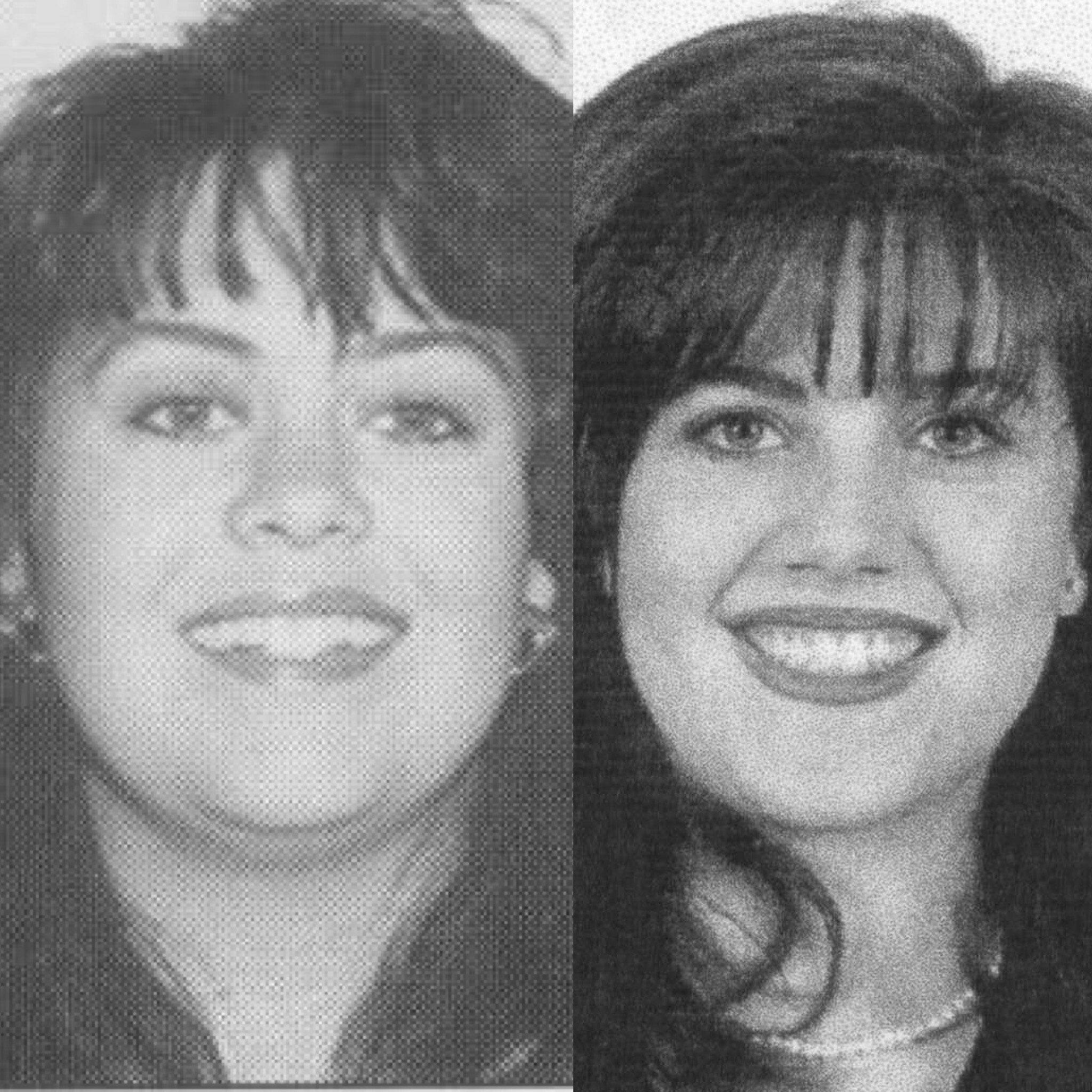 Left: a 1996 passport photo of me. Right: Monica Lewinsky (Source unknown. I attempted to find a source but this image appears so much on the internet still today I couldn't find the original.)