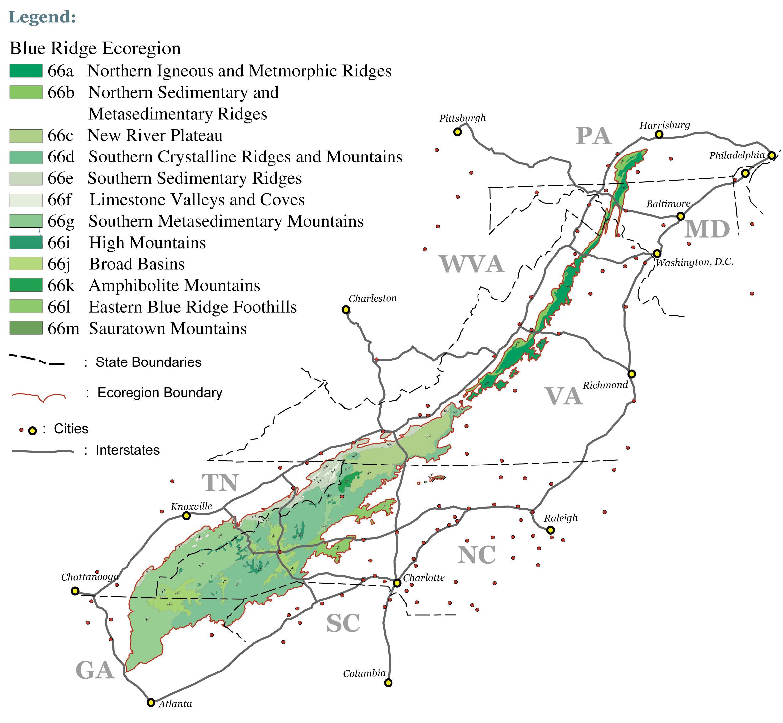 Blue Ridge Ecoregion Level IV