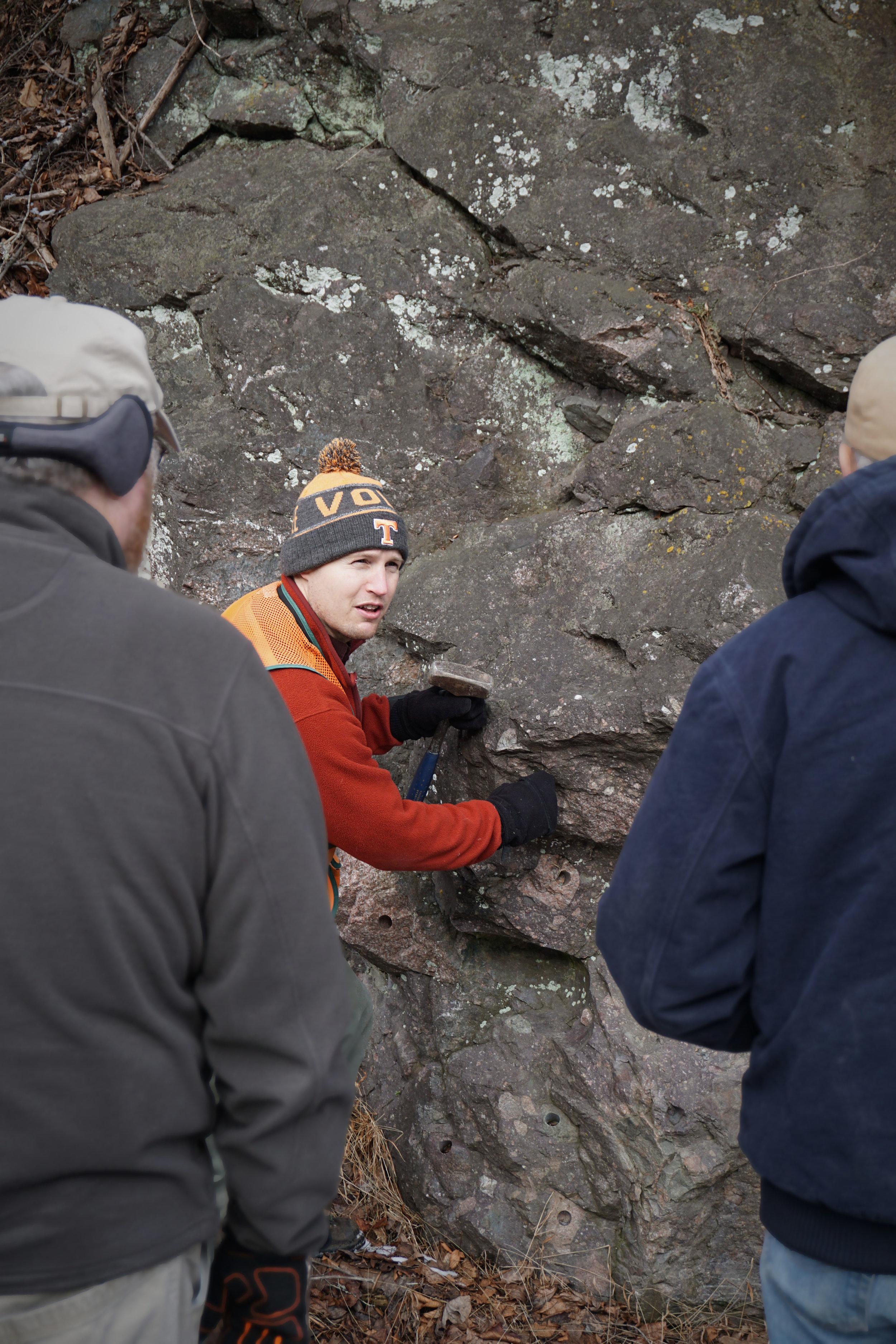 Arthur tells the story of diamictite formation.