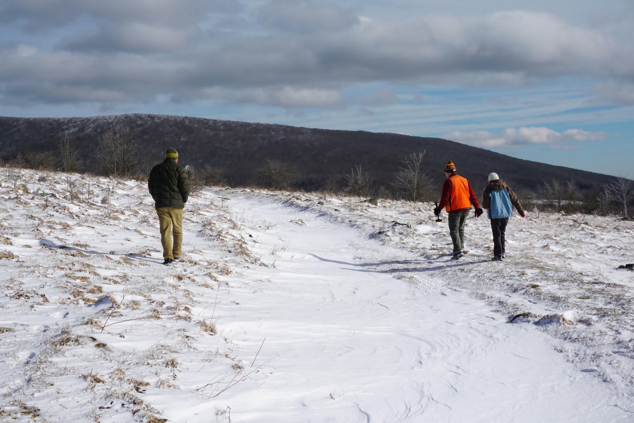 The Appalachian Trail under a blanket of drifted snow.