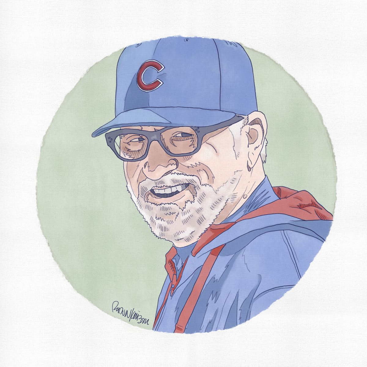 Joe Maddon   — Self-initiated illustration   of Chicago Cubs manager, Joe Maddon