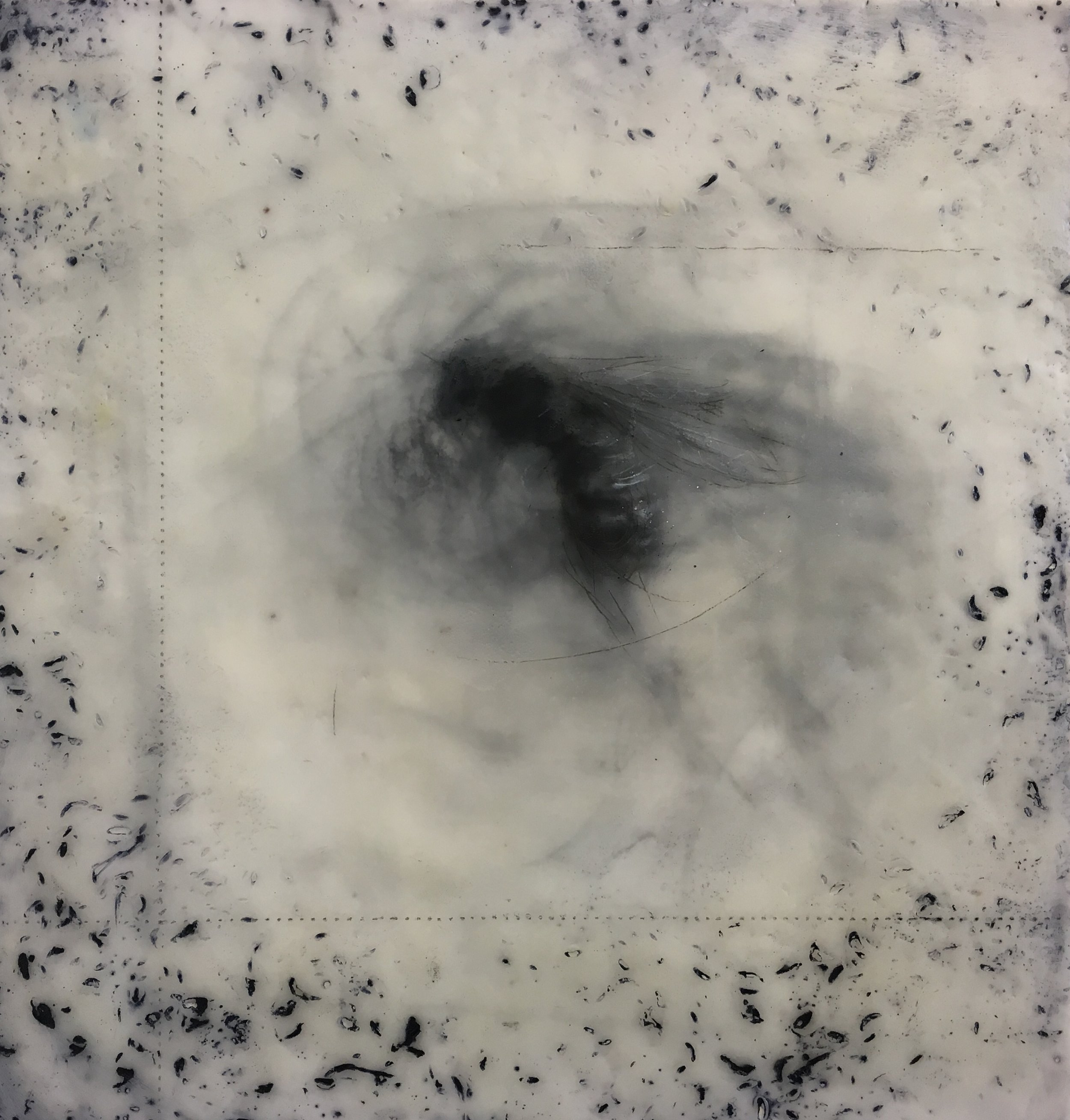 Gautreau.Unveiled.10x10%22.Encaustic, oil, charcoal on panel.2018.jpg