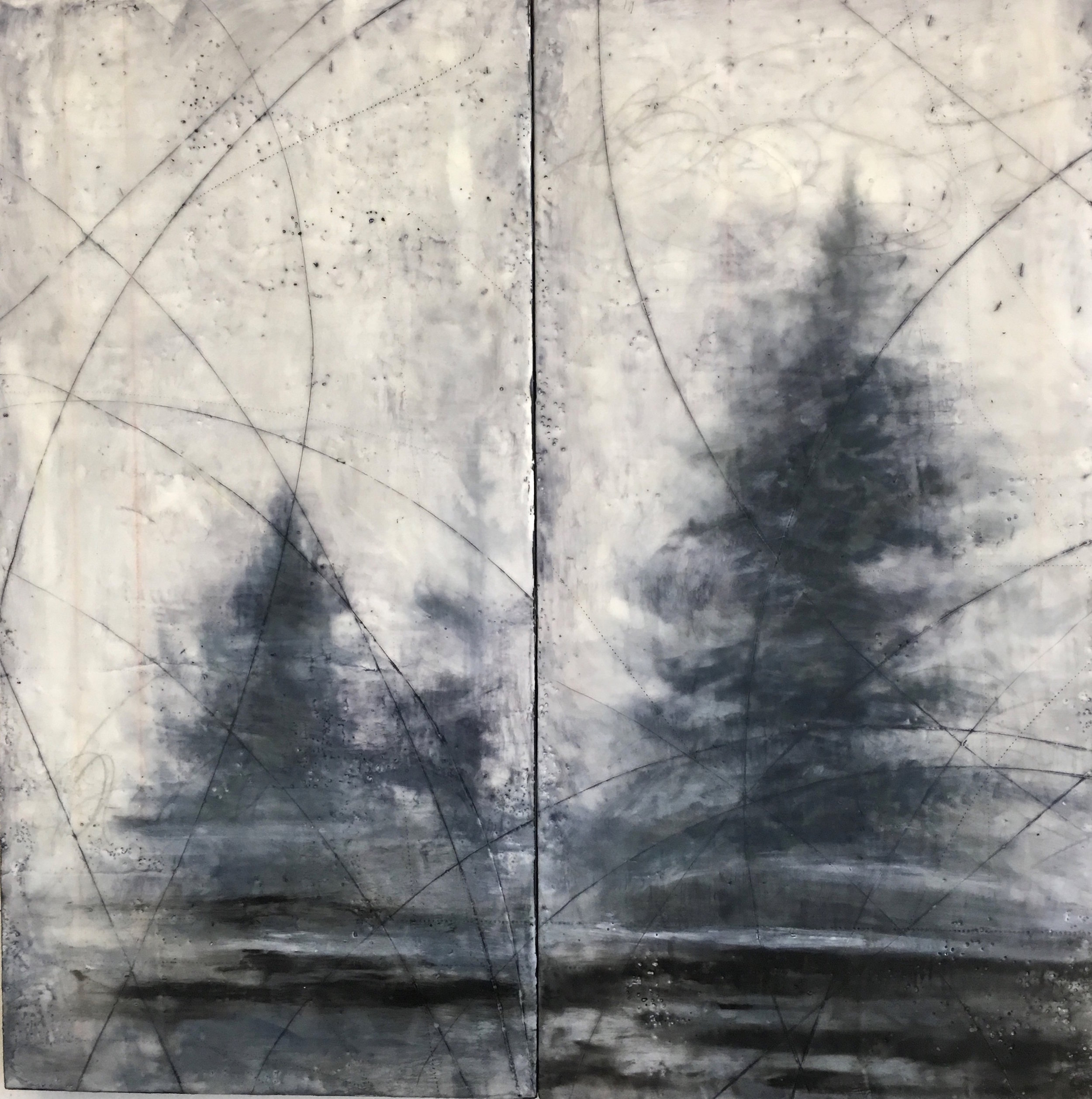 Gautreau_Forested_encaustic_24x24%22 diptych.2018.300dpi.jpg