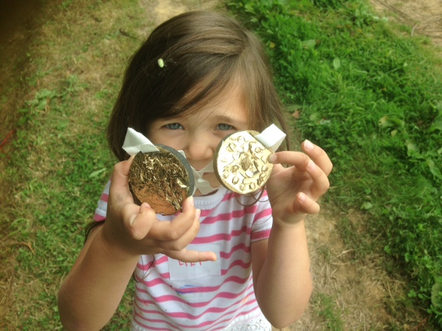 Olympic gold medals for all!! Seeds and grasses and a very popular can of gold spray paint....