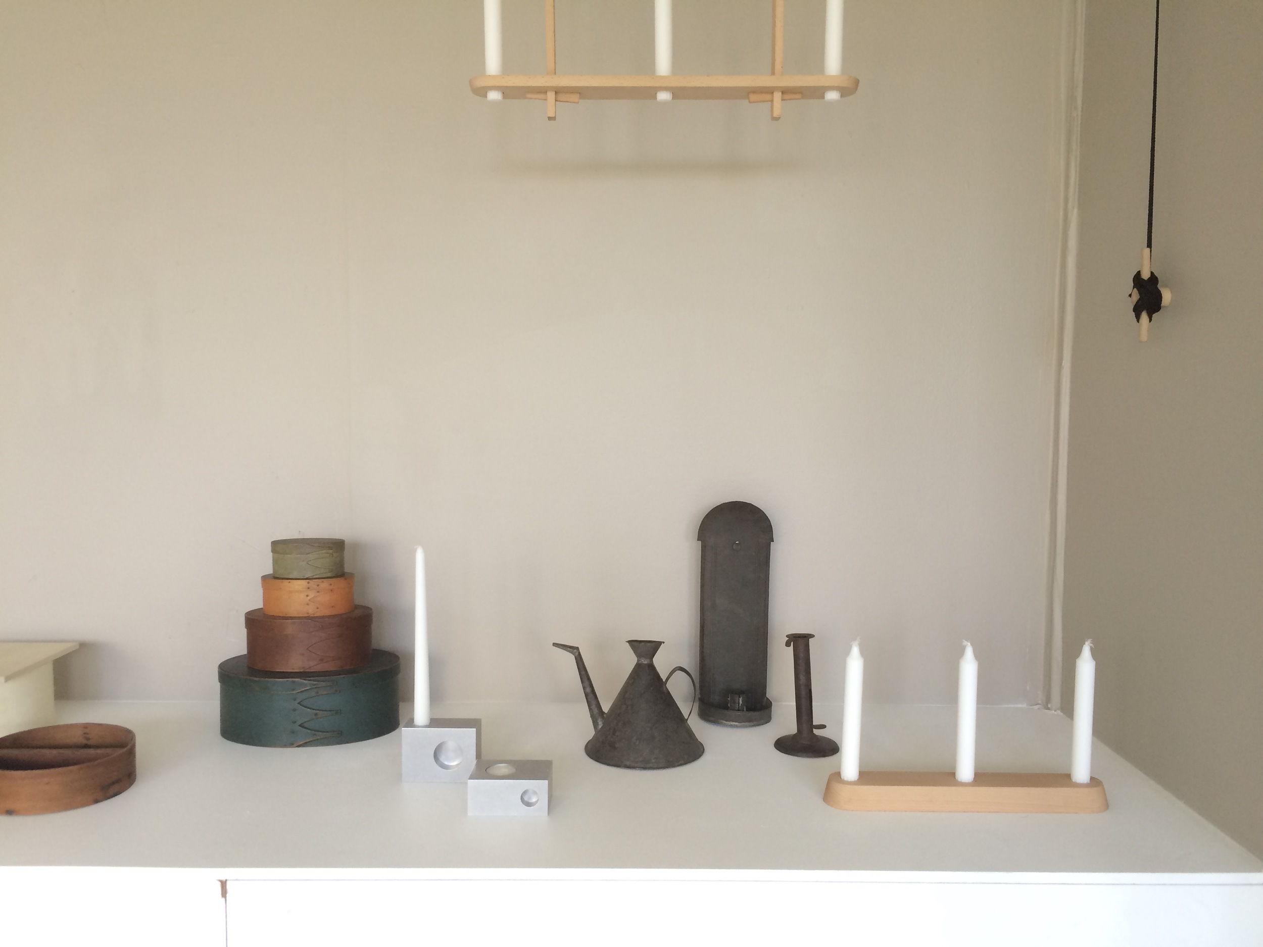 The exhibition featured the designers' work alongside selected Shaker artifacts from Hancock Village.