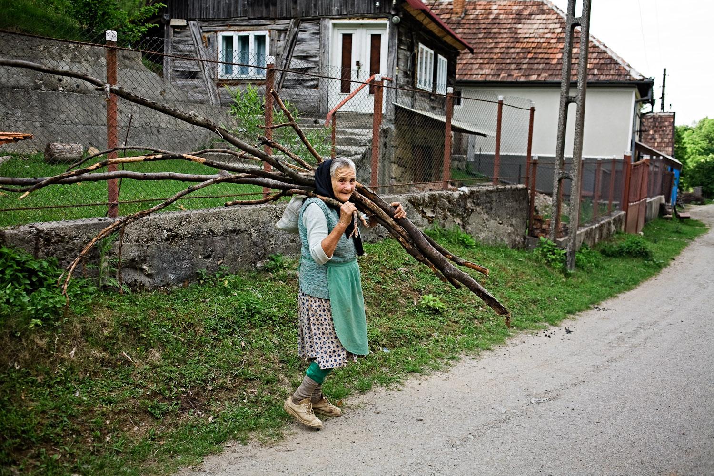 Zece-Hotare village, Romania.