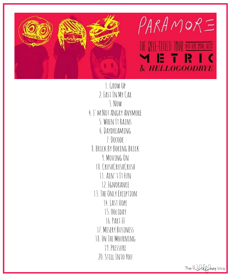Paramore set list 3.png