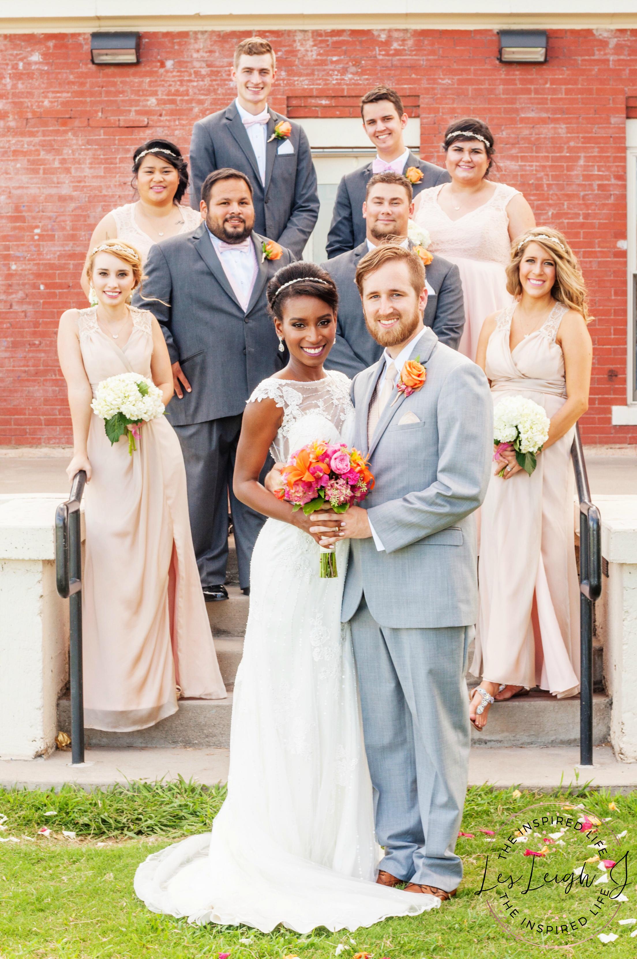 Blush & Grey Bridal Party