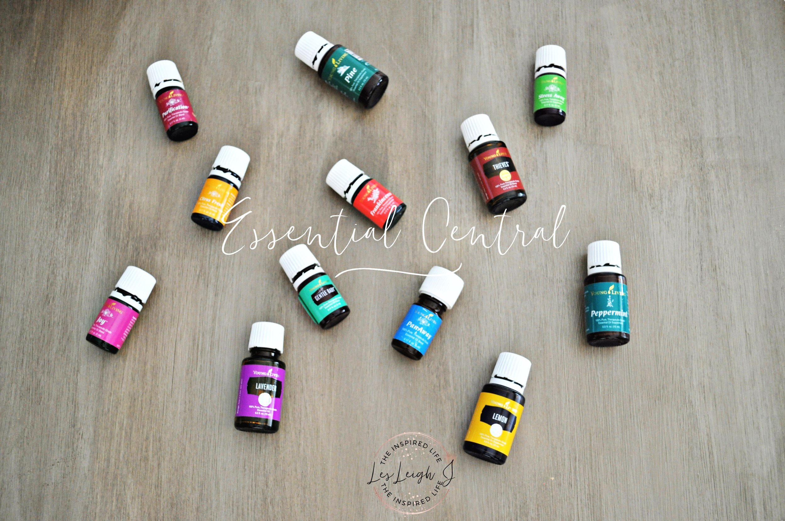 Part of my Young Living oil collection