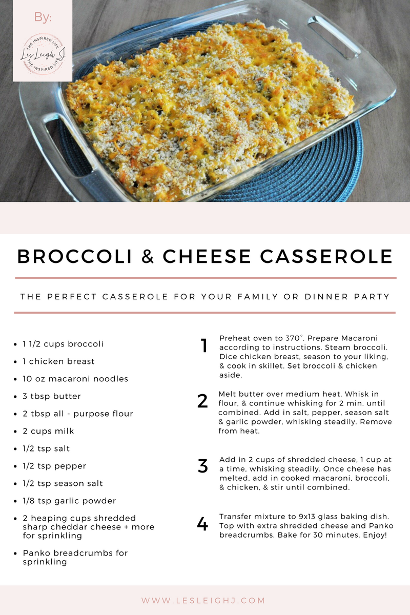 Broccoli and Cheese Casserole Recipe