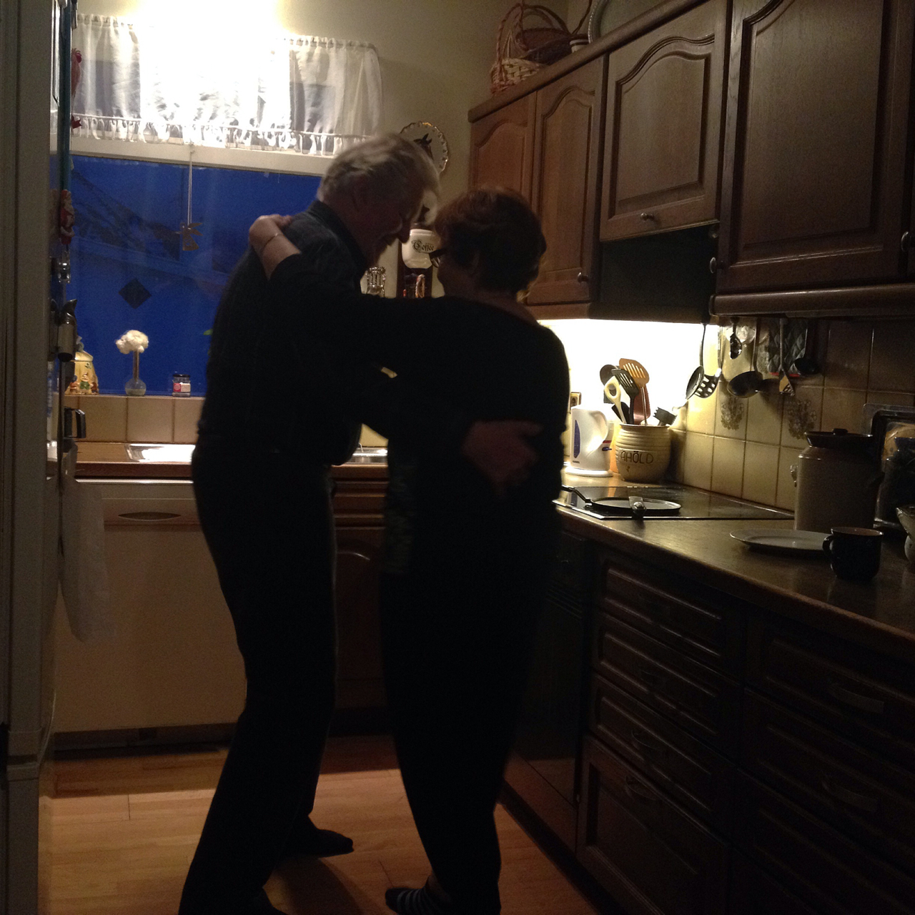 """It's been more than five decades since Brynja and Gunnar met, when he asked her to dance and she said no. Since then, they've become great grandparents. In their Ólafsfjörður kitchen, state radio station RUV is always on. And when they hear an old song they like, they dance; night or day, in stockinged feet or their pyjamas. """"There are so many dances, I don't remember them all,"""" says Brynja, """"but we love to waltz."""" She smiles. """"We've danced our whole lives together."""""""