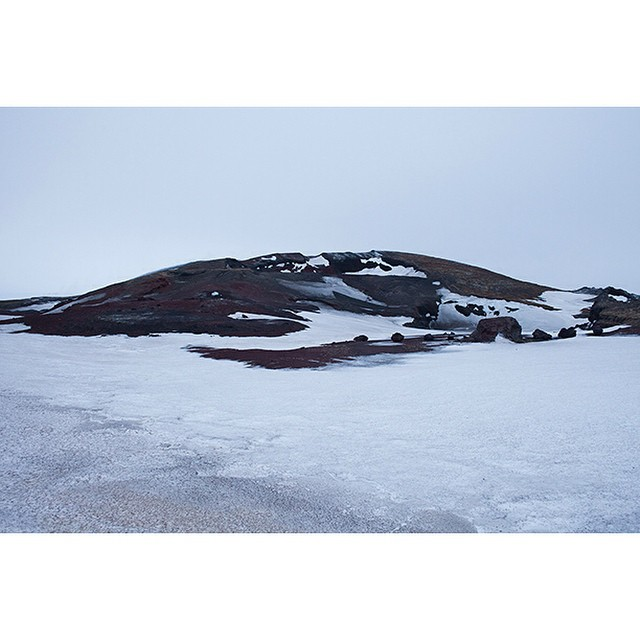 "65°38'16.0""N 16°51'09.3""W, 17/02/2015, 1720 Parking lot, road to Myvatn, Iceland #geothermal #parking #parkinglot #volcanic #winter #Iceland #Myvatn"