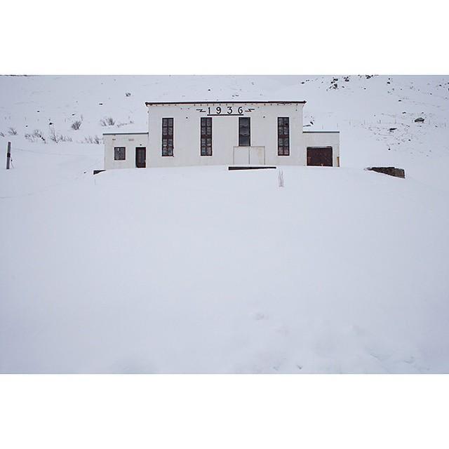 "66°09'24.1""N 18°54'42.6""W, 01/02/2015, 1537 Defunct power station, Siglufjörður, Iceland #electricity #powerstation #Iceland #winter #hillside"