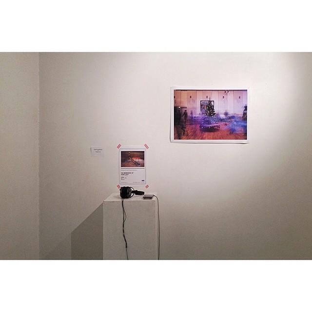 """66°04'22.0""""N 18°39'12.0""""W, 16/01/2015, 2204 Print and audio, Skammedigshátíð group show, Listhús í Fjallabyggð, Ólafsfjörður, Iceland #skammdegi #exhibition #Iceland #installation"""