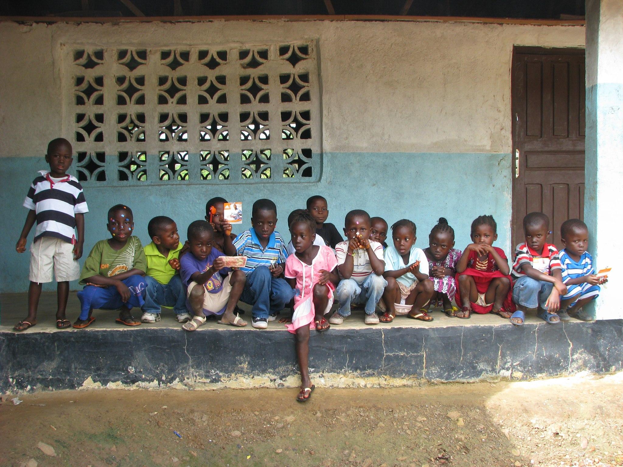 Students at Balama Elementary School