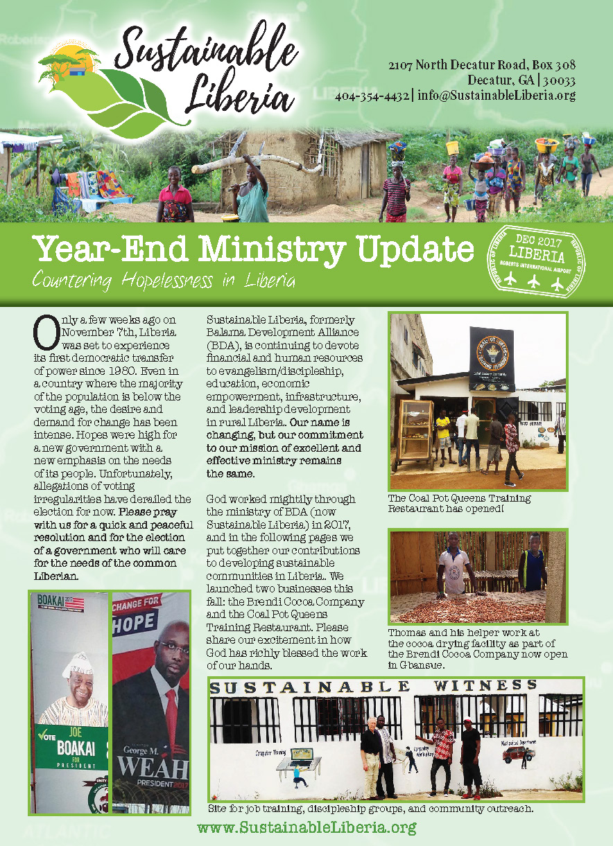 - Click here to download the 2017 End of Year Ministry Update Newsletter