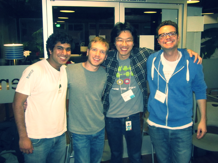 Aayush, Nathan, and Will: our Hack4Good team.