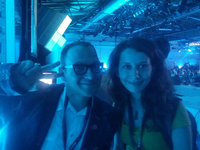 With Cory Doctorow at Re:publica 2013