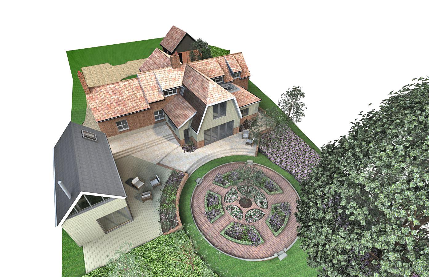 2014-06-26 PL066 Rose Cottage, Aerial View M.jpg