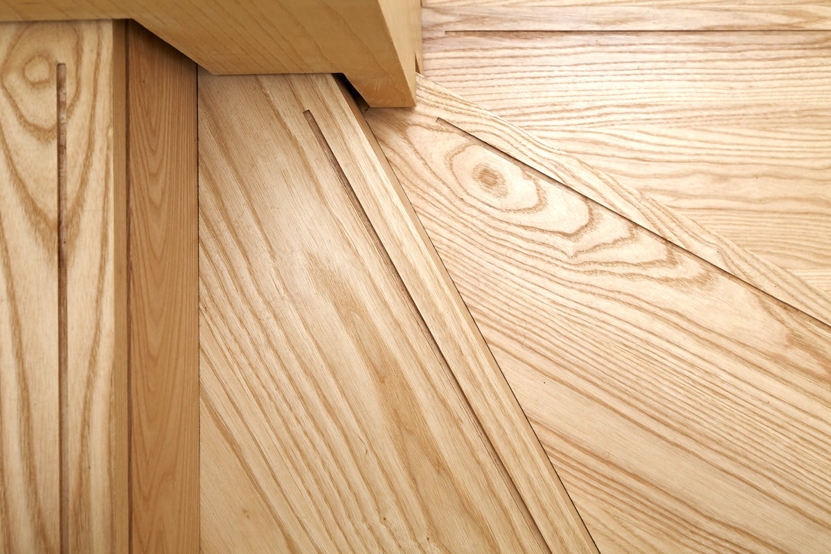 Solid Ash Handmade Staircase with rebate detailing | for further information see  Sustainable House, Norton
