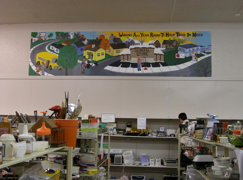 Salvation Army Mural, Morris, MN, 2006