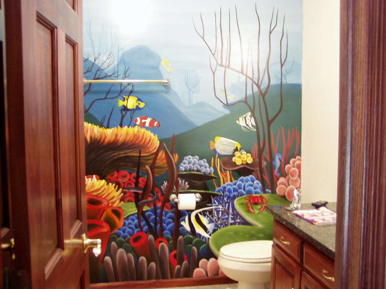 Bathroom Mural, St. Joseph, MN, 2005