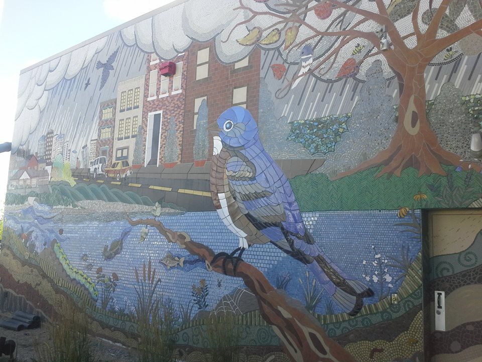 Maplewood mall mural, Maplewood, MN, 2013