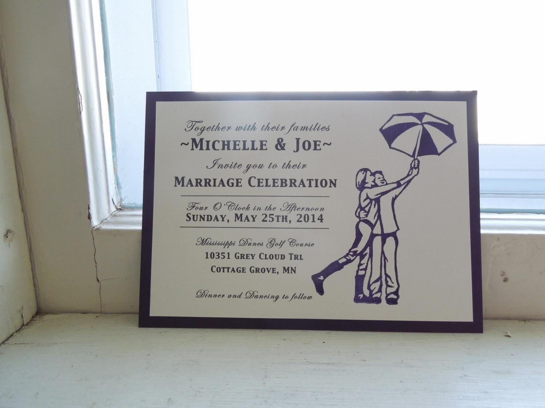 Custom Hand-printed Wedding Invite