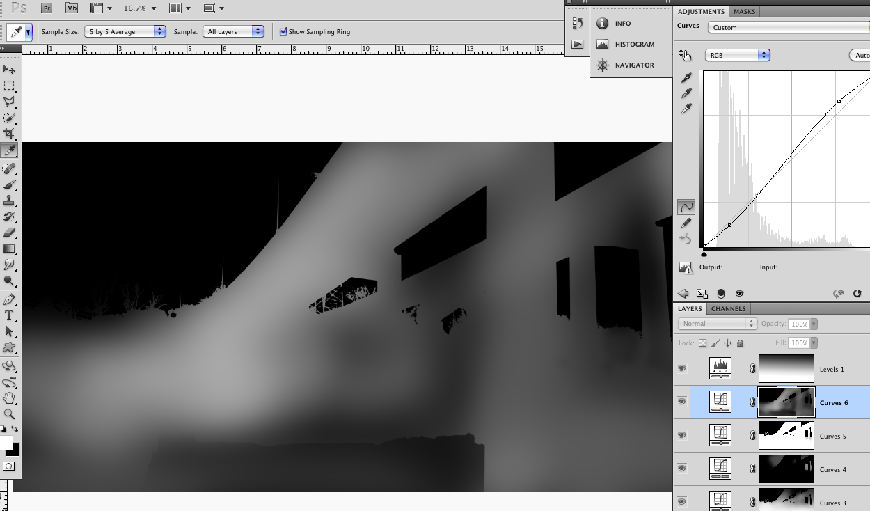 Example Burn and Dodge Curves Layer Masks
