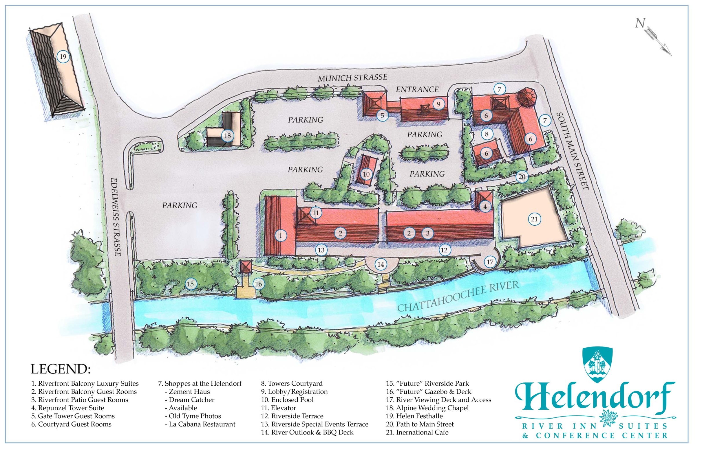 Map Of Georgia Helen.Property Map Immobilien Karte Helendorf River Inn Suites