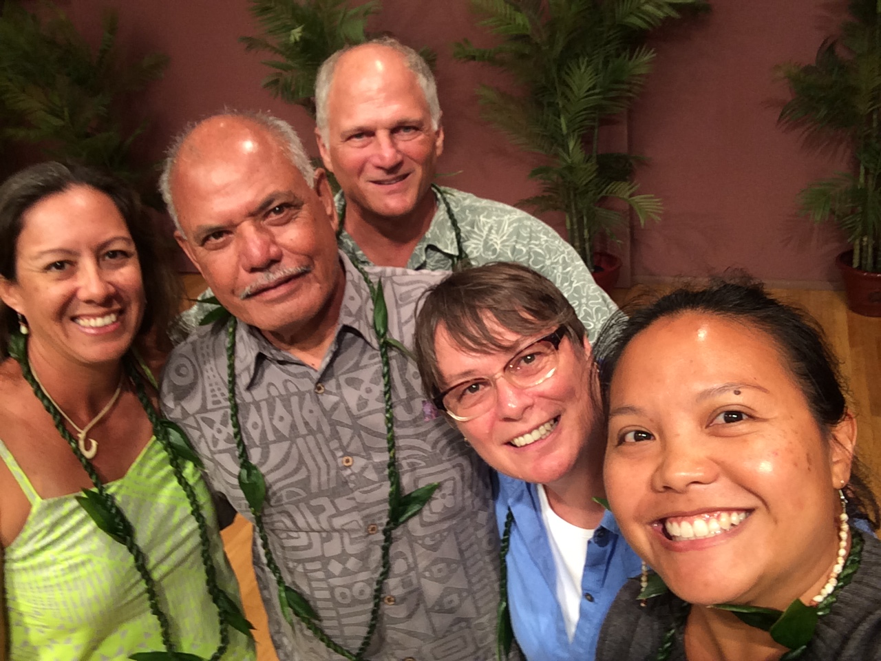 OUR AWESOME PANELISTS (L TO R): HIʻILEI KAWELO, UNCLE MAC POEPOE, DR. ALAN FRIEDLANDER, DR. RUTH GATES AND ROSIE