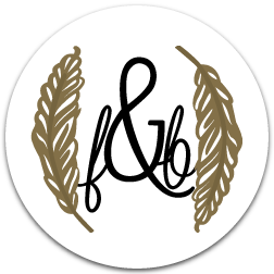 feather&blush logo, designed by yours truly.