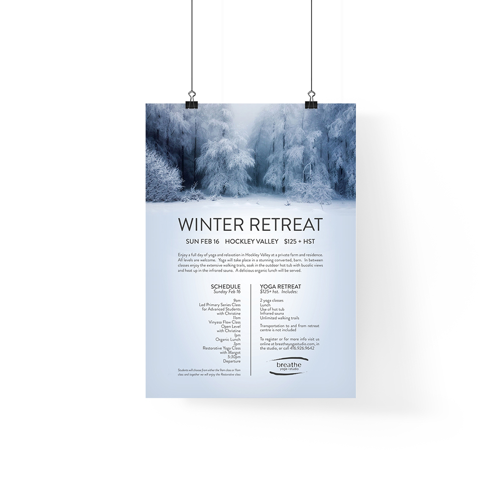 Breathe Yoga Winter Retreat