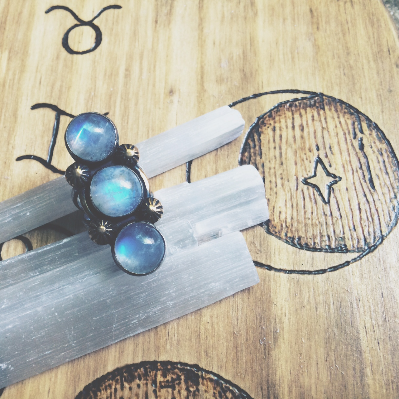 Moonstone ring from Rejoice the Hands