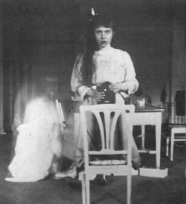Self portrait of Grand Duchess Anastasia Nikolaevna, October 1914